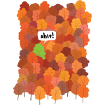 Baum hat Herbst verpennt