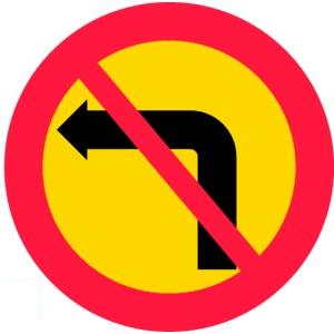Förbjuden vänstersväng