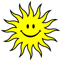 Sun - Lachende Sonne