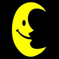 Moon - Lachender Mond