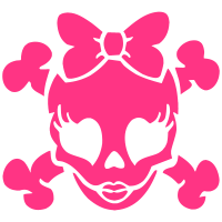 Pink Lady Skull 01