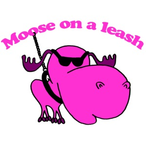moose on a leash pink gif