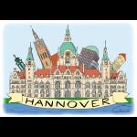 Hannover Rathaus Sehenswürdigkeiten Souvenir Sommer