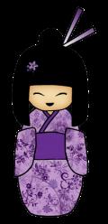 Motif Japonaise en violet