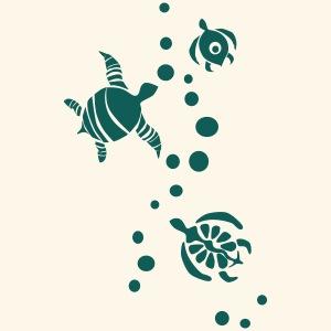 verspielte Meeresschildkröten