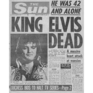 Design ~ King Elvis Dead FP BW