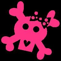 Girlie - Lady - Skull - Totenschädel