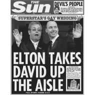 Design ~ Elton Takes David Up The Aisle FP BW