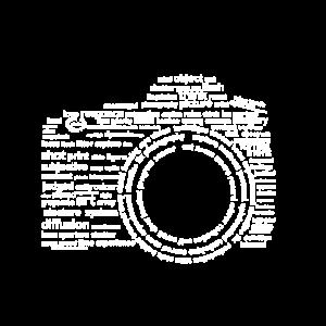 Kamera Typografie Weiß