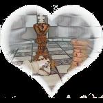 Schachfiguren im Herz