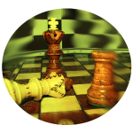 Schachfiguren im Kreis