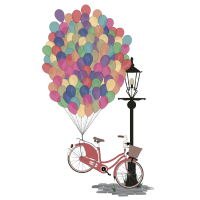 Love to Ride my Bike with Balloons