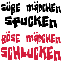 Süße und böse Mädchen - eushirt.com