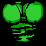 Gerippt Muskeln Grün (Ripped Muscles Green)