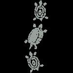 Scherenschnitt Schildkröte 2