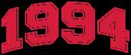 Jahrgang 1990 Geburtstagsshirt: 1994