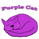purple cat sleeping
