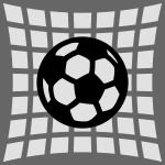 voetbal in goal