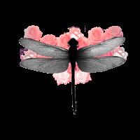 Libelle en rosé
