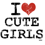 i love cute girls vintage by wam