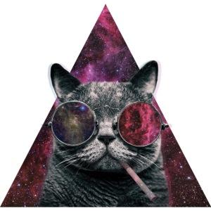 Hipster Cat Smoking
