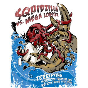 Squidzilla Vs Mega Lobster