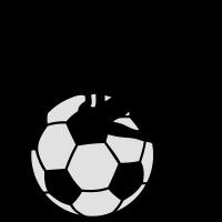 Frau am Fußball 2 - 2C