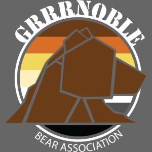 Logo texte blanc GRRRNOBLE BEAR ASSOCIATION