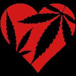 Hanf Herz / Cannabis Love Heart