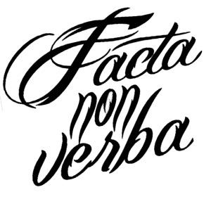 Facta non verba ZWART png