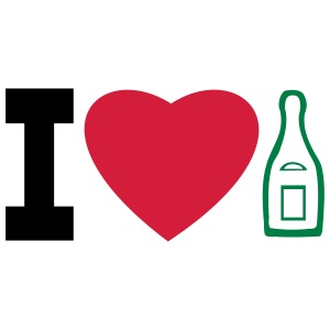 """create your own """"I love champagne"""" t-shirts and"""