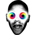 Psychedelischen Augen