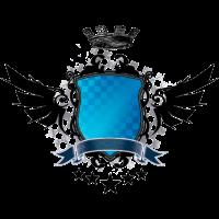 Wappen-Design (Schild, blau)
