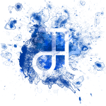 Glyphe Blau