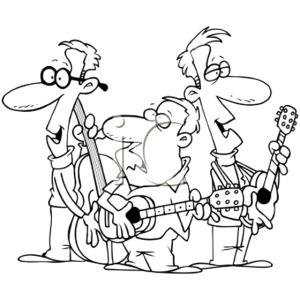 Flere musikere svartstrek png