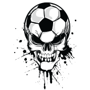 soccer skull kicker ball football pirat