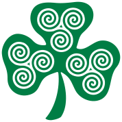 Celtic triple spirals clover (1c)
