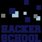 Hacker School Logo mit Pixeln
