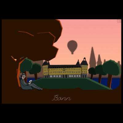 Bonn - Die schöne Stadt auf deinem Shirt! - stadt,rheinland,nrw,deutschland,bundesstadt,Uni,Schloss,Bonn,Beethoven
