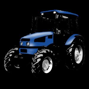 Trecker, Traktor, Schlepper - blau