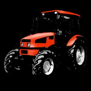 Trecker, Traktor, Schlepper - rot