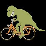 Dino fährt Rad