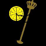 Vorstelijk fris met citroen en stamper