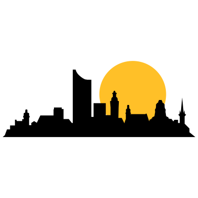 leipzig skyline - Skyline von Leipzig - skyline,Städte,Leipzig,Großstädte
