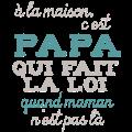 Motif Papa fait la loi