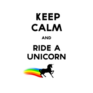 Keep calm and ride a unicorn Black png