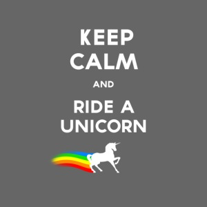 Keep calm and ride a unicorn White png