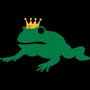 mürrischer Frosch mit Krone