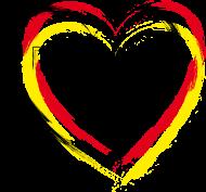 Fan-Shirt: srg_h01 Deutschland Herz
