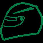 Race Helm Kapuzzendruck - links